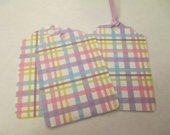 8 Spring Striped Themed Handmade Gift Tags