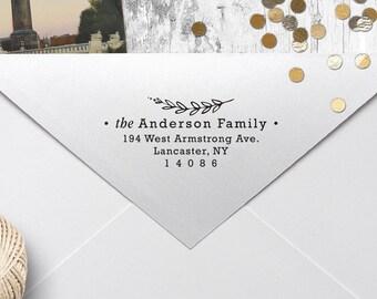 "Rubber Address Stamp, Self Inking Address Stamp, Housewarming Gift, DIYer Gift, Wedding Gift. Custom Address Stamp 2.5"" x 1"" - A41"