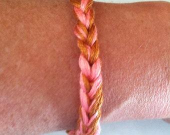 Crochet friendship bracelets, tie dyed bracelets, woven bracelets, jewelry, bff gift, Gifts under 5 dollars