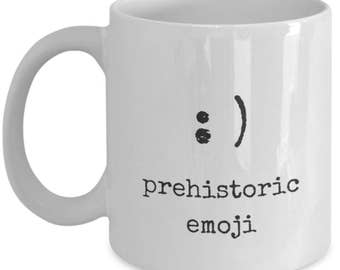 Prehistoric Emoji mug, Smiley Face Mug, Smiley Face Emoji, Funny Emoji Mug