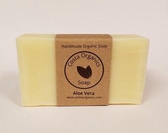 Organic Aloe Vera Soap - Unscented (Handmade)