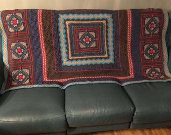 Handmade crochet Diamond Geezer Blanket