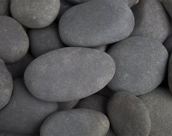 """Natural 3"""" to 5"""" Large Beach Pebbles 30 lb Of Grey Stones, Walkway Or Outdoor Garden Decoration, Smooth Stones For Covering Dirt Or Decor"""