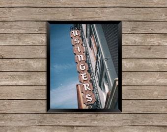 Usinger's Sausage - Milwaukee Art Photography Print - vintage sign photo