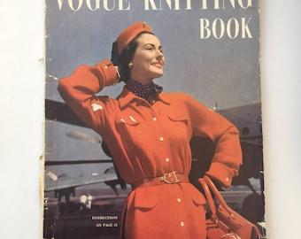 Vintage Vogue Knitting, 1950's Vogue  Knitting Book, Vintage Pattern Booklet, Vogue Edition No 37, Vogue Knitting Book, Vintage Haberdashery