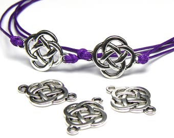 17 Celtic knot connectors antiqued silver, 18mm x 25mm in size