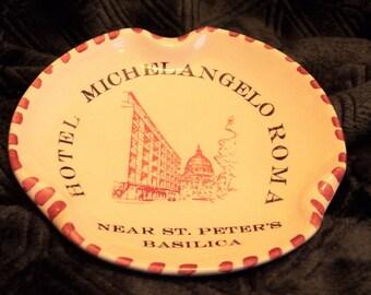 Vintage Hotel Michelangelo Roma Ashtray