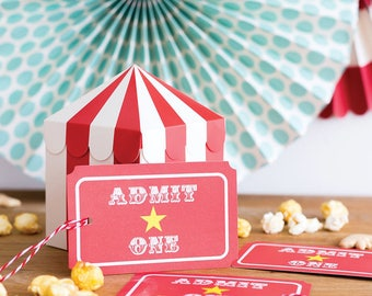 Carnival Tickets | Circus Party Favor Tag Admit One Ticket Circus Raffle Ticket Circus Party Carnival Party Circus Birthday Circus Gift Tag