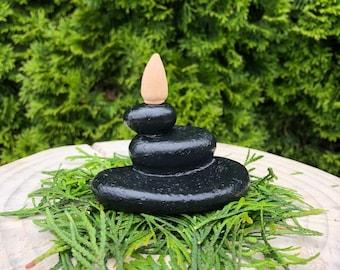 Cairn Backflow Incense Burner || Meditation || Incense Holder Ceramic || Unique Incense Burner || Cone Incense Holder || Altar Decor ||