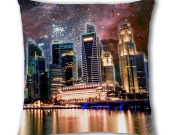 Space Skyline Design Cushion Cover (C1183)