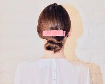Luxe velvet hair bow, velvet bow, hair bow, pink velvet bow, bow hair clip, velvet hair bow, hair accessories, gift for her