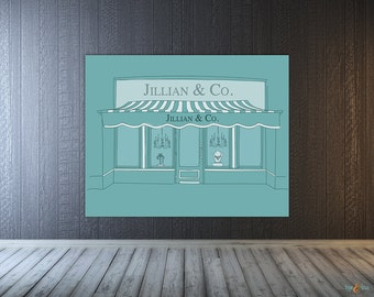 Breakfast at Tiffany Backdrop, Breakfast Tiffanys Bridal Shower, Bride and Co., Tiffany's Sweet 16, Custom Wall Banner Backdrop, Baby Shower