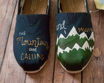 Women's Hand Painted Mountain Toms
