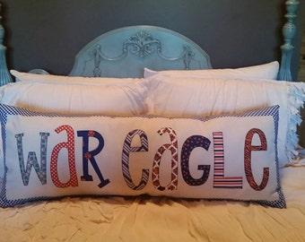 Made to Order - 'War Eagle' Applique Pillow
