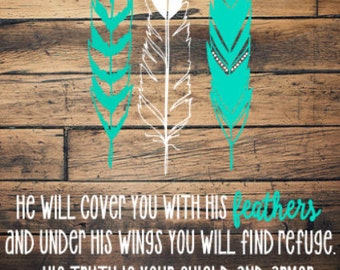 Psalm 91:4 SVG, JPG & PNG