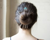 Pisgah PEAK Hair Pin- Bronze + Turquoise