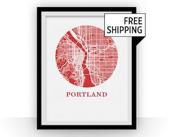 Portland Map Print - City Map Poster