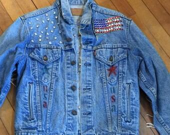 Levi's Embellished 80's Jean Jacket