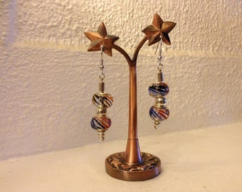Pair of glass beads earrings