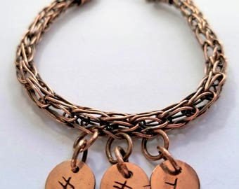 Men's Personalized Viking Knit Bracelet
