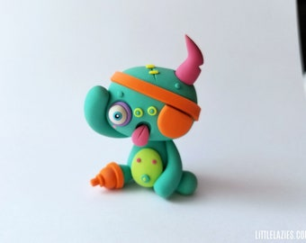 Random PIRATE LittleLazies | 1 Miniature Monster Polymer Clay Sculpture | Handmade | Thank You!