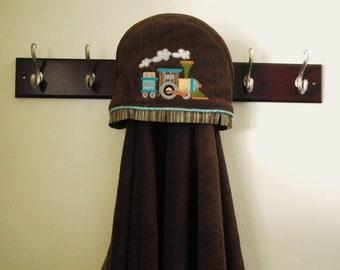 train hooded towel child bath towel