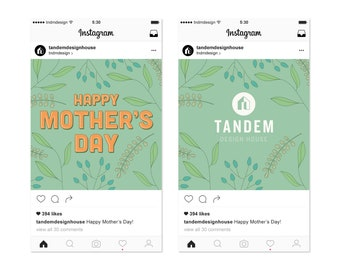 Mother's Day Greenery – Instagram Greeting