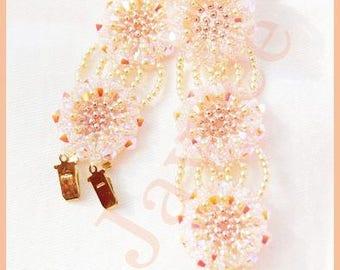Beading Tutorial - Crystal Fire Bracelet - Netting stitch