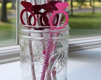 Diamond Ring - Engagement Ring - Glitter Drinking Straws