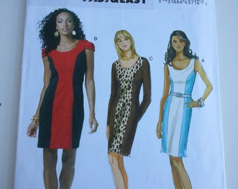 Sexy dress /tight / party / work / short dress / cocktail dress / 2010 sewing pattern, Size 8 10 12 14, Bust 31 32 34 36, Butterick 5554
