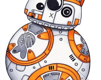 BB-Cat - Star Wars Art Print Illustration - 8x10