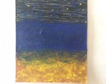 Original Art ATC ACEO Mini Painting - Acrylic