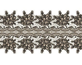 "Vintage Black Lace Temporary Tattoo - ""A Lace To Call Your Own"""