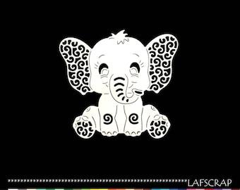 Cut scrapbooking baby baby animal elephant boy girl embellishment Scrapbook die cut scrap deco paper
