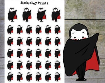 Vampires // Hand Drawn Vampire  Planner Stickers Perfect for Planning Periods, Blood Donations etc. // HD42