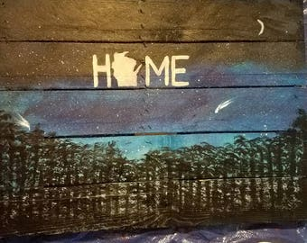 Wisconsin woods home painting