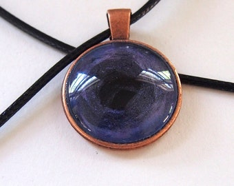 Hand Painted Glass Necklace: Purple at the Core