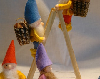 Dwarf-  Gnome - Winter - Flower Child - Waldorf  Inspired