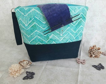 Project bag, knitting bag, Projectbag, zipper pouch, Knittingbag,