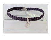 Purple Leather Sterling H...