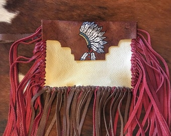 Headdress fringe wristlet