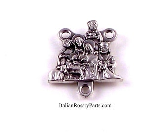 Nativity Manger Scene Rosary Center Medal With Wisemen | Italian Rosary Parts