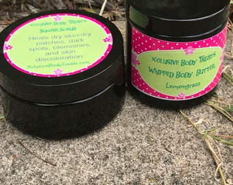 Shea Body Butter and Sugar Scrub Package