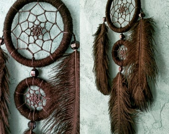 Black Dream Catcher, small dreamcatcher,  car dream catcher, boho style, wall hanging, wall decor, handmade dreamcatcher