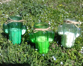 Cactus jar candy scent to choose soy wax
