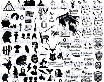 92 Harry Potter svg files, Harry Potter svg,quotes harry potter svg,Harry Potter SVG Pack, files for Silhouette, Harry Potter characters,png