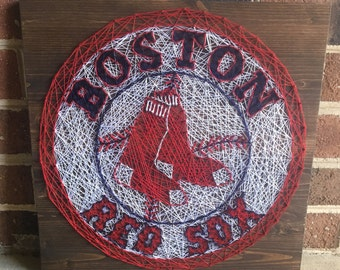 Boston Red Sox Baseball Sports Team Sports Fan String Art Wood Sign Man Cave Wall Art Sports Home Decor & Red sox wall art | Etsy
