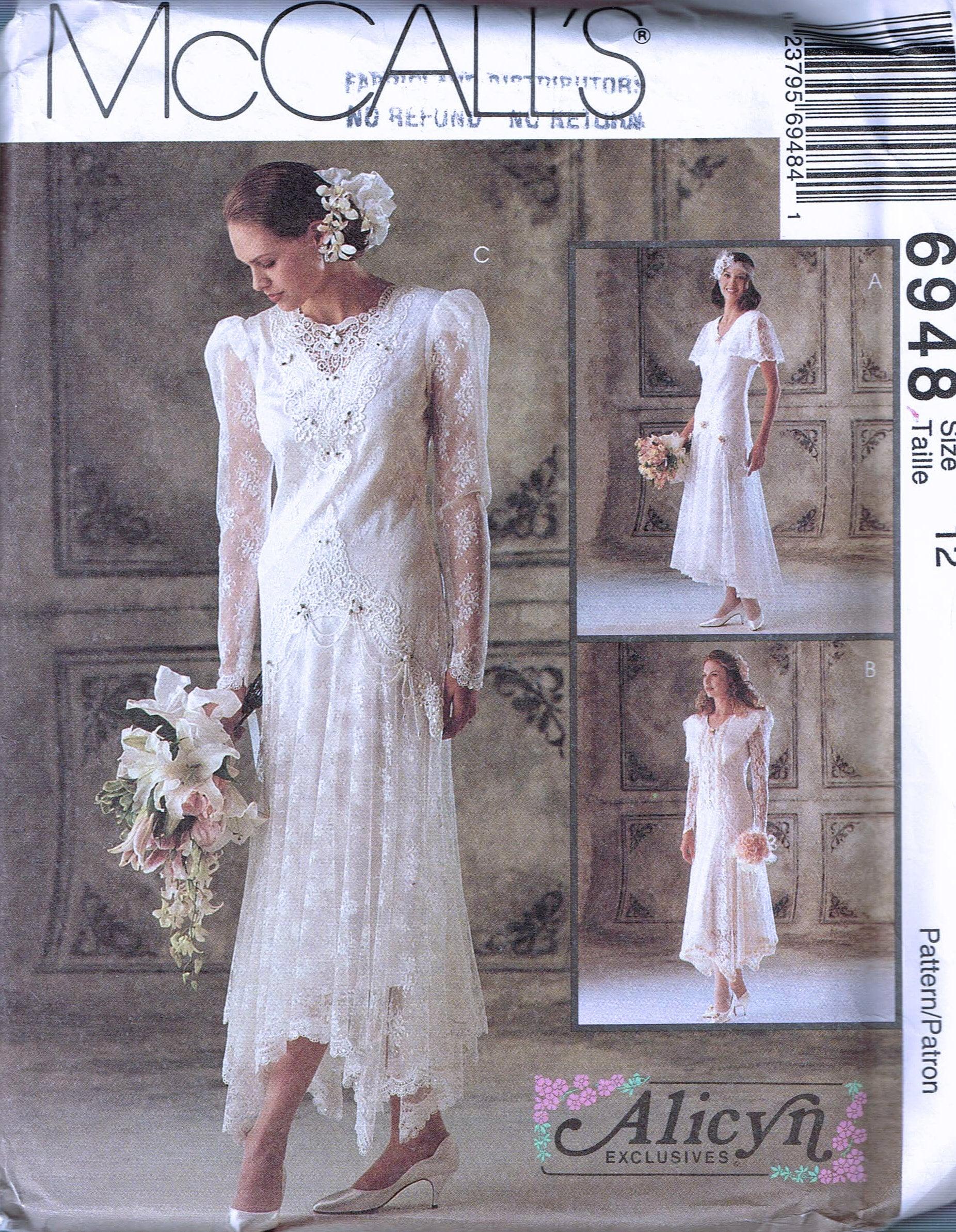 Größe 12 Hochzeit Kleid Schnittmuster Tropfen Taille Flapper