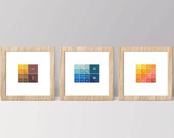 Korean Alphabet or Hangul Characters Complete Set as Digital, Instant Download Wall Artworks