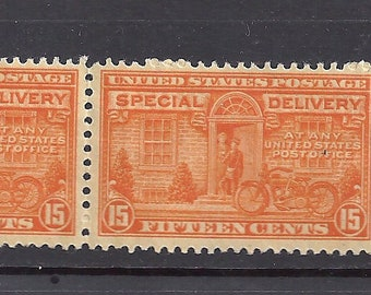US E16 Special delivery Stamps of Pair MNH